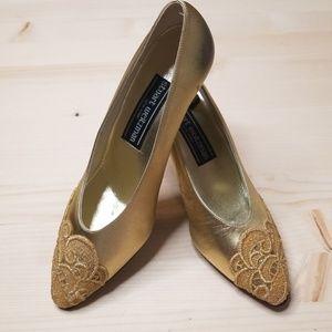 Stuart Weitzman Vintage Gold Heels